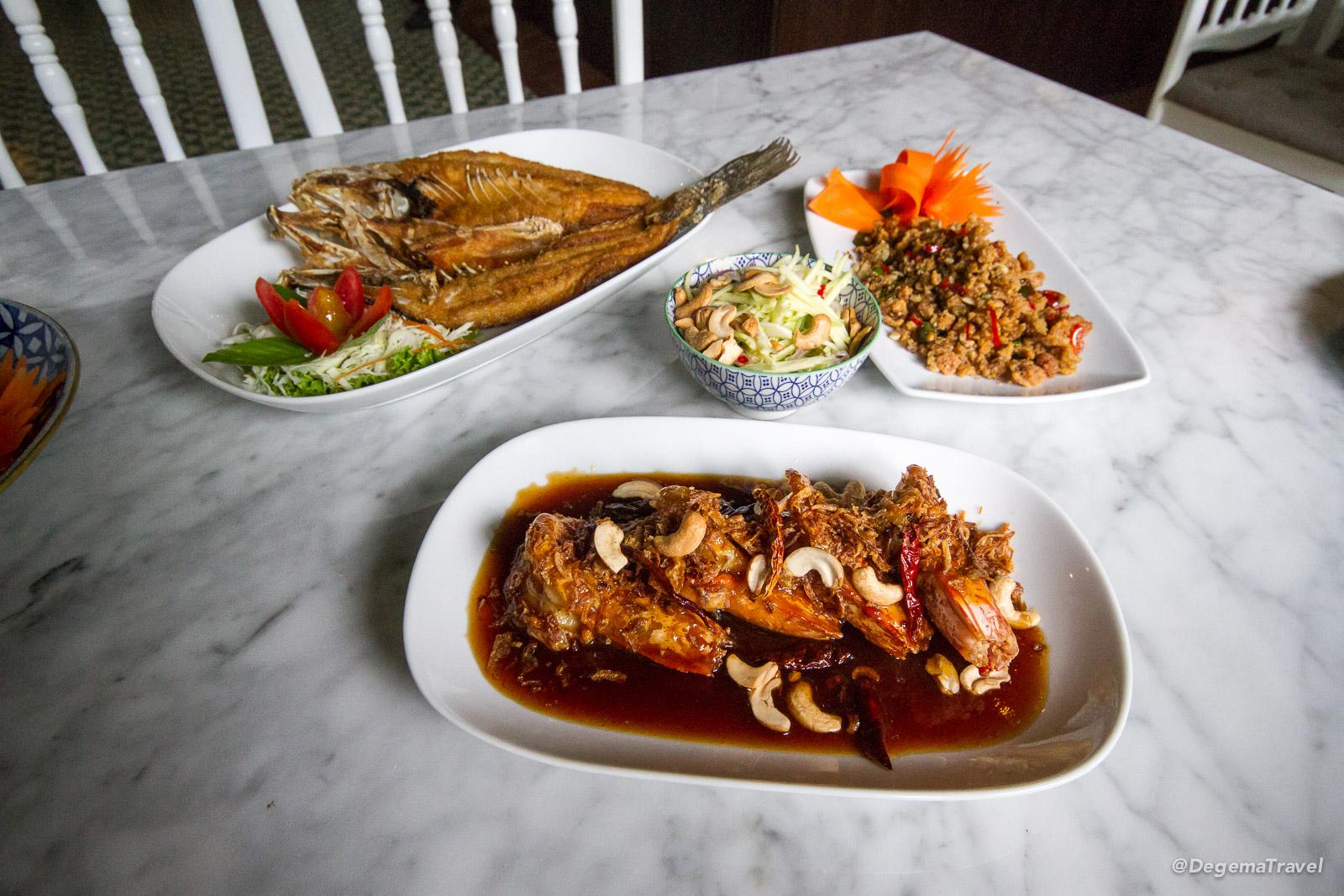 Food at Chumchan in Phuket Town, Thailand