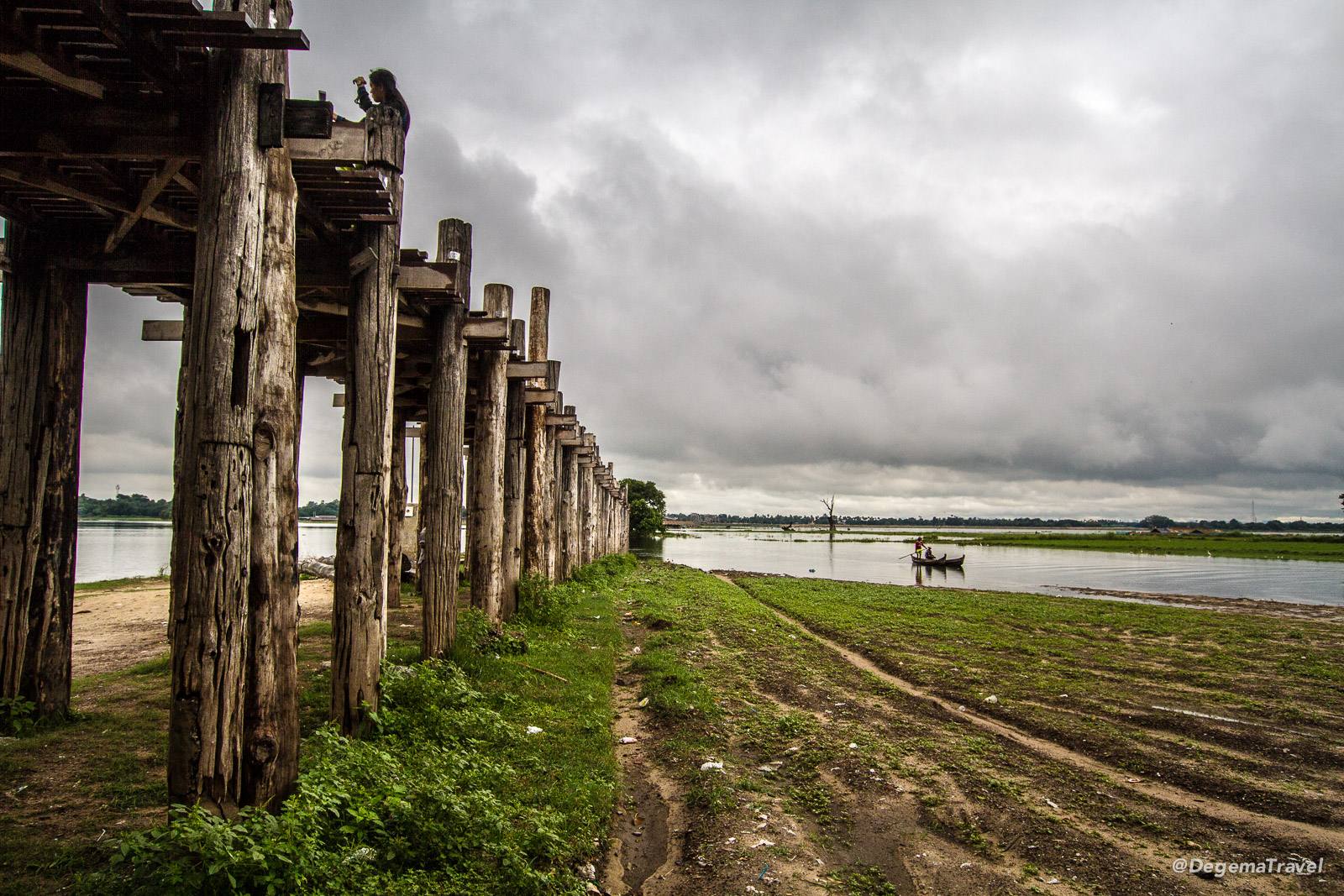 U Bein Bridge near Mandalay, Myanmar
