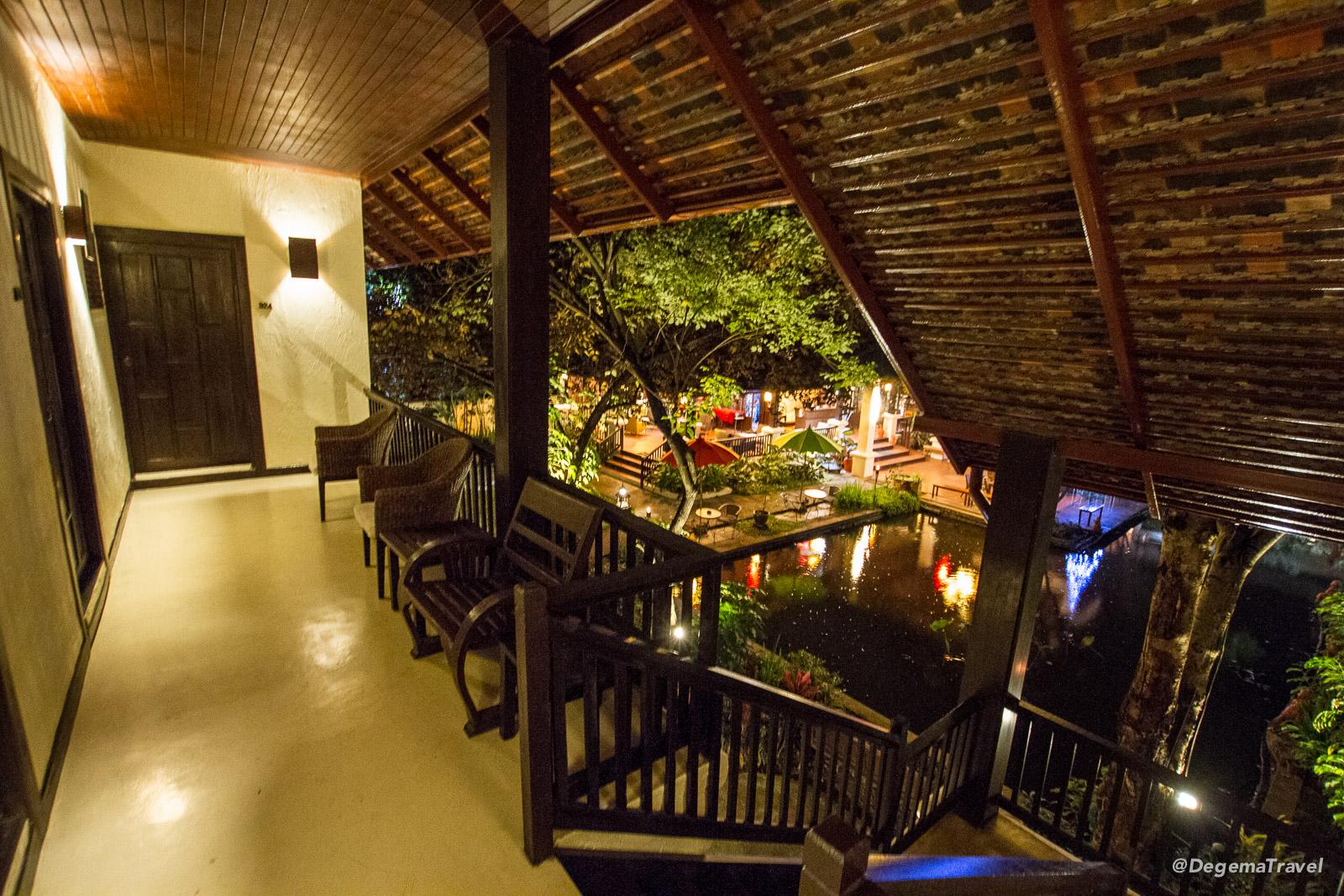 Corridor at Lanna Dusita Boutique Restaurant in Chiang Mai, Thailand