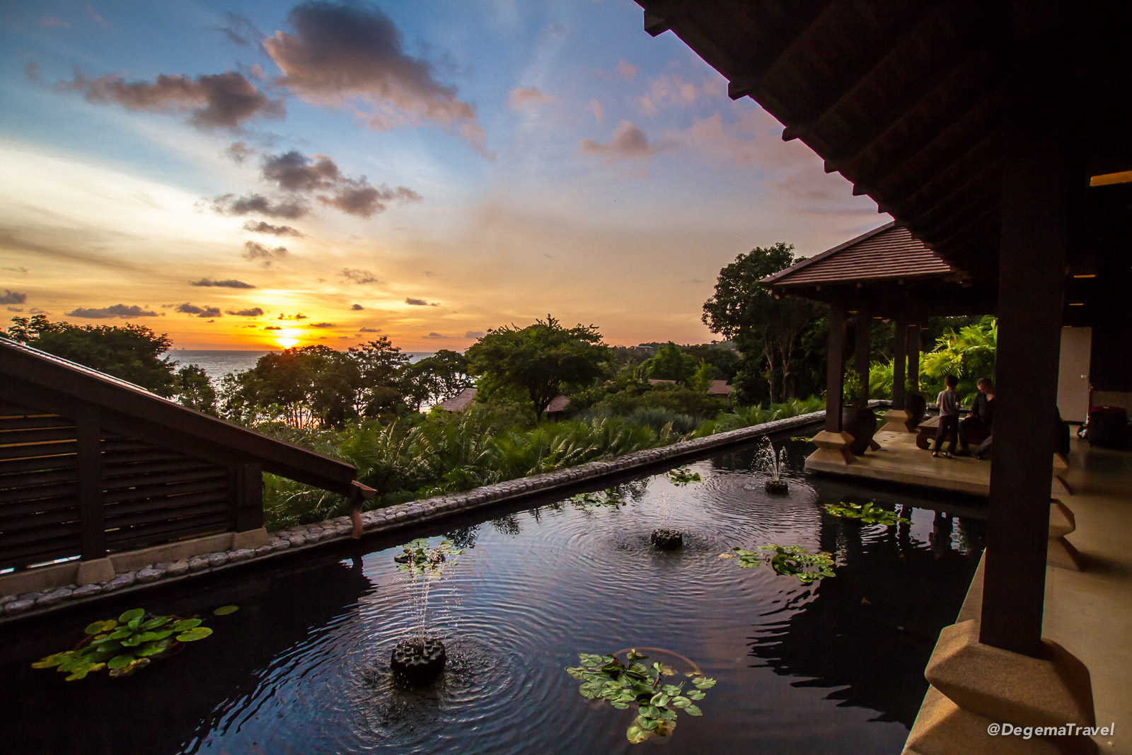 Sunset at reception at Pimalai Resort & Spa on Koh Lanta, Thailand