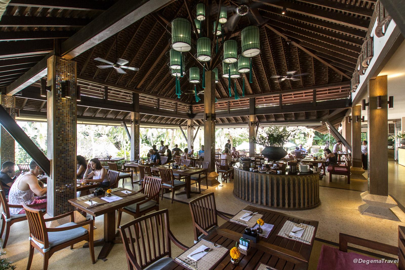 Spice n' Rice Thai Restaurant breakfast buffet at Pimalai Resort & Spa on Koh Lanta, Thailand