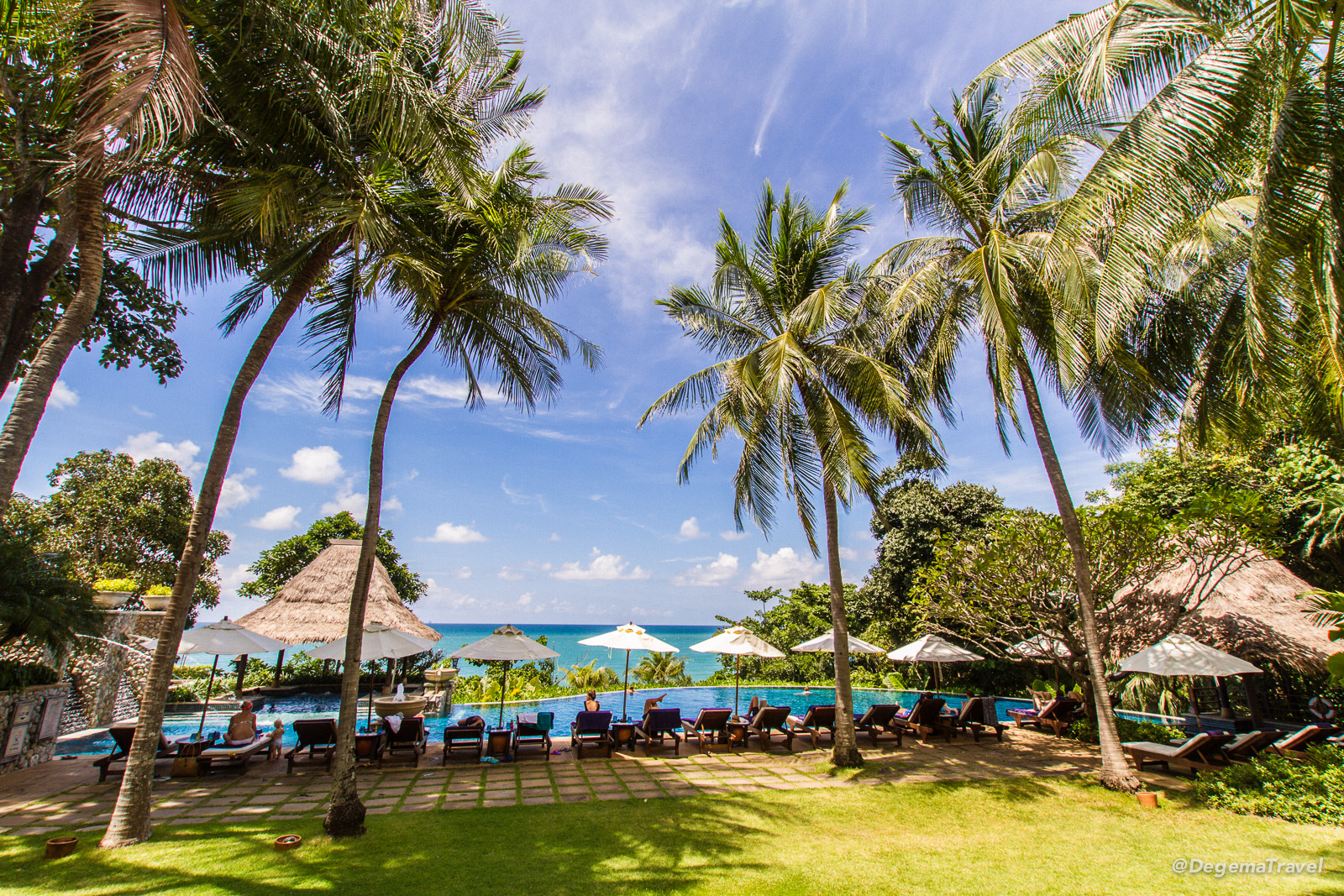 Lower swimming pool at Pimalai Resort & Spa on Koh Lanta, Thailand