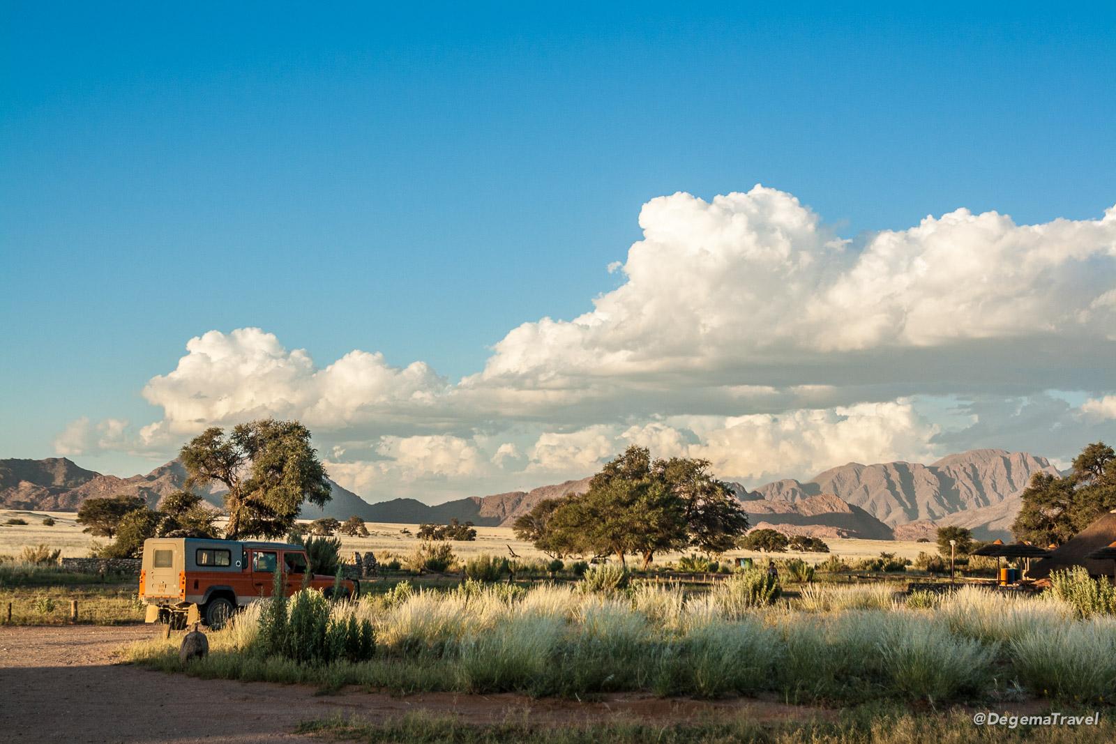 Our campsite near Sesriem, Namibia