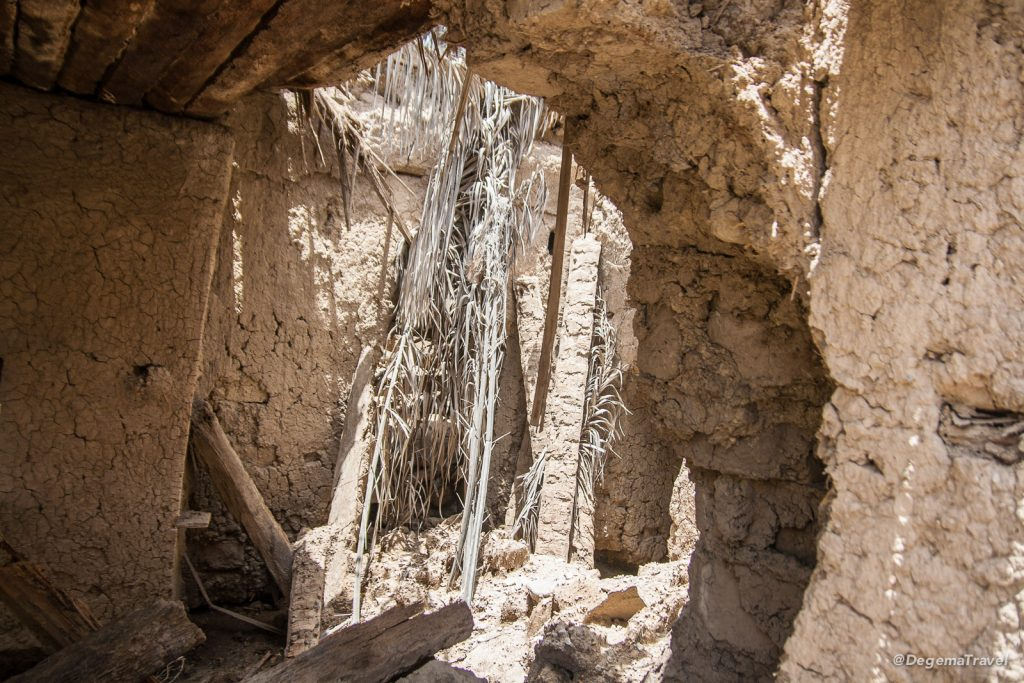 Abandoned buildings near Nakhal Fort, Oman