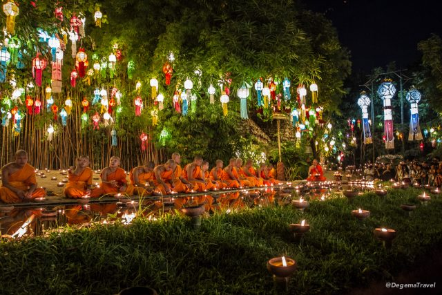 Loy Krathong in Chiang Mai