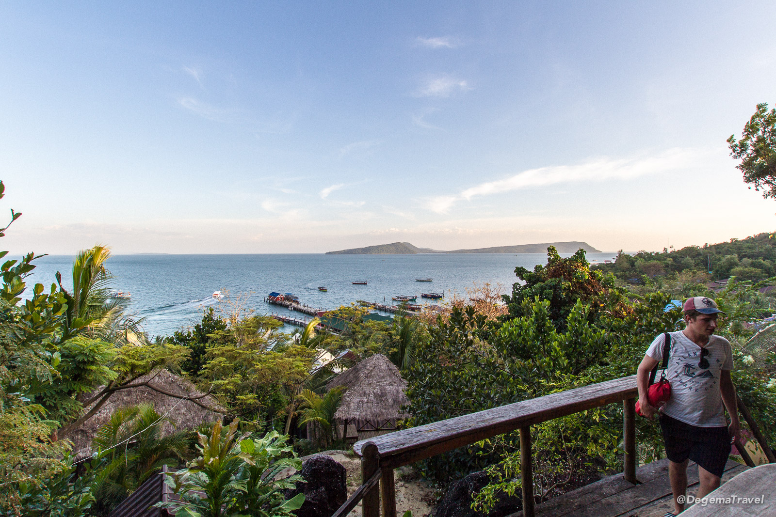 The view from Skybar in Tui Village, Koh Rong, Cambodia