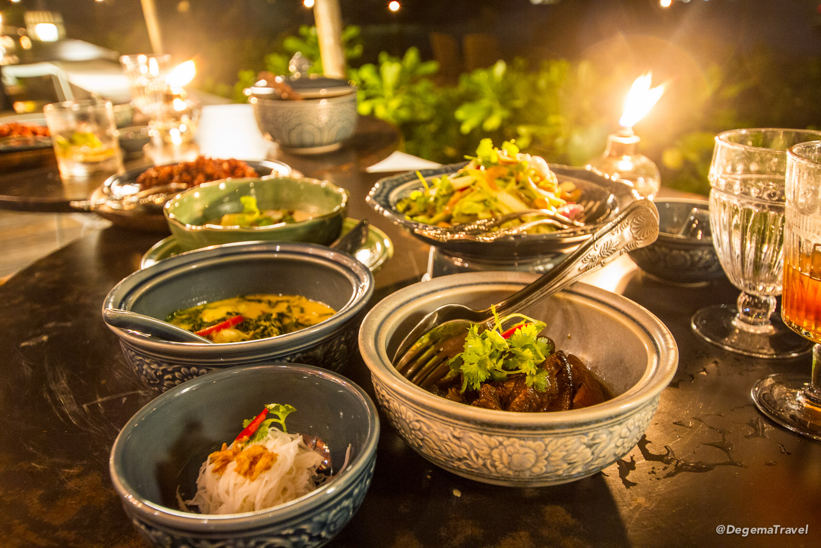 Thai food at Ta Khai Restaurant near Patong in Phuket, Thailand