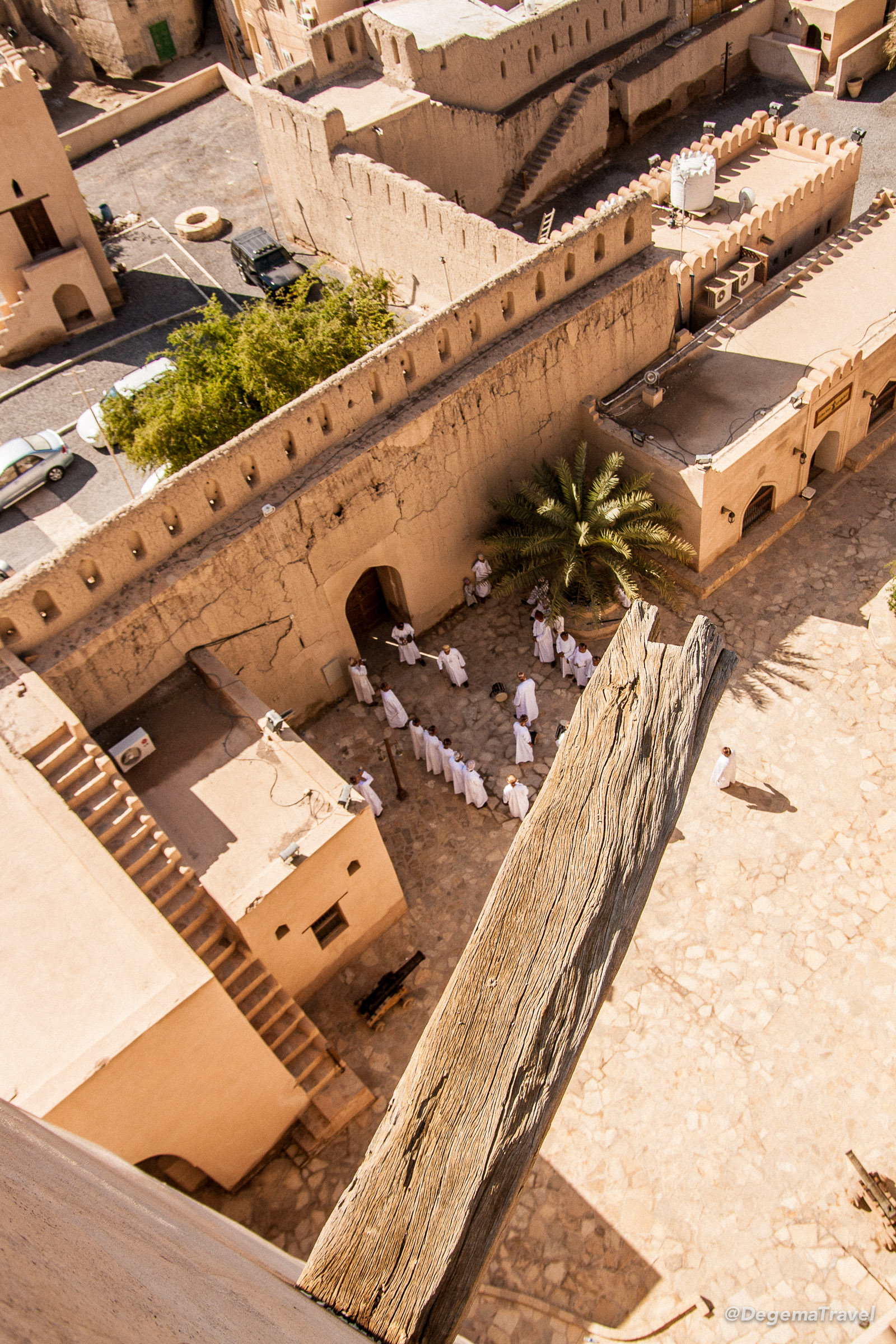 View from the walls of Nizwa Fort, Oman