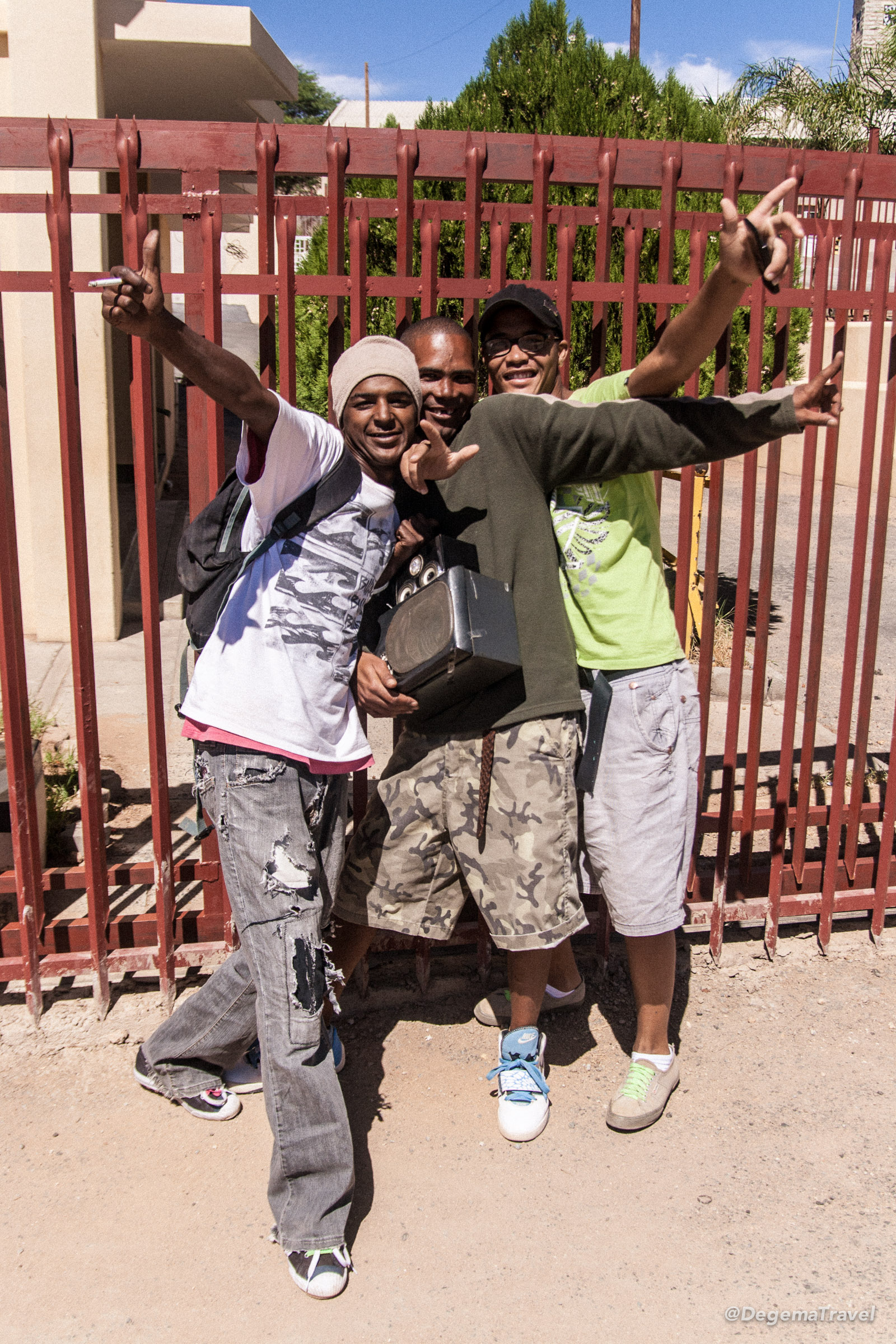 Young guys in Springbok, South Africa