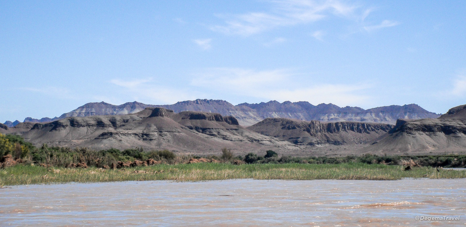 The bank of the Orange River, Namibia