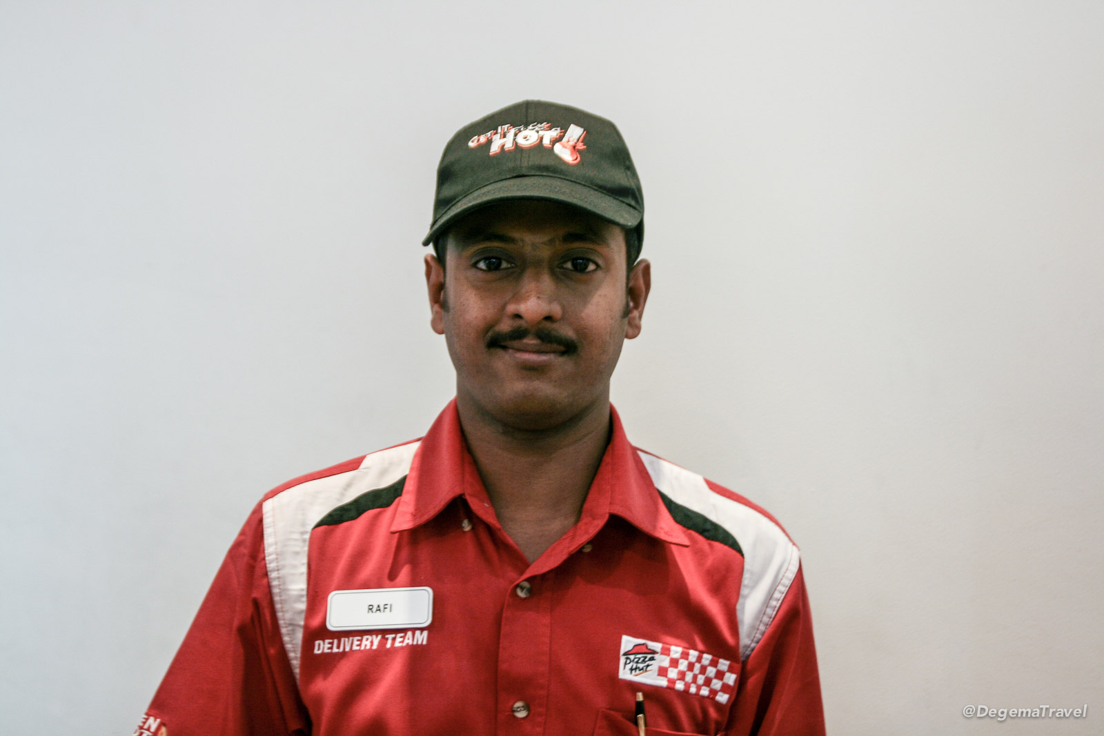 Pizza Hut delivery guy in Muscat, Oman