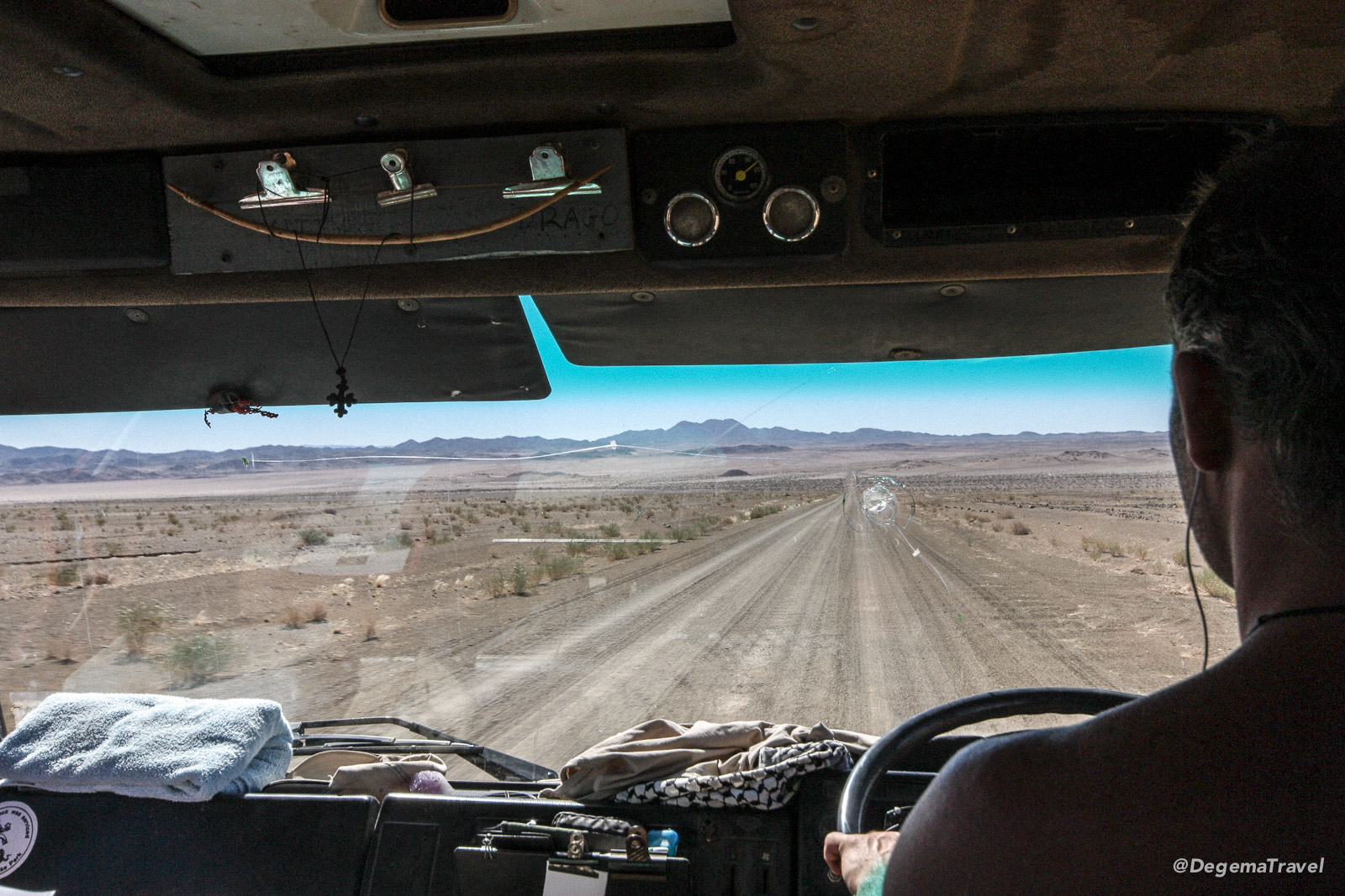 Driving to Hobas Camping Site, Namibia