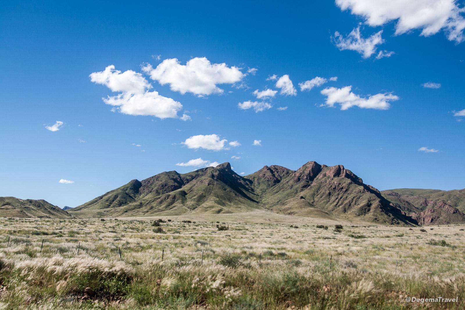 The beautiful scenery of Namibia