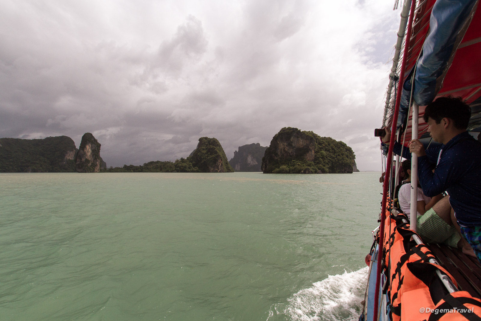 Sailing through Phang Nga Bay, Thailand