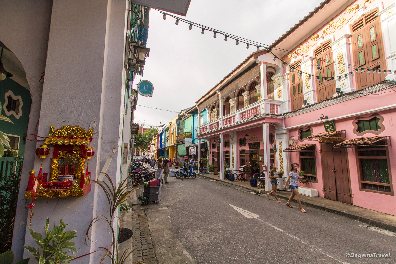 Soi Romanee, off Thalang Road in Phuket Town, Thailand