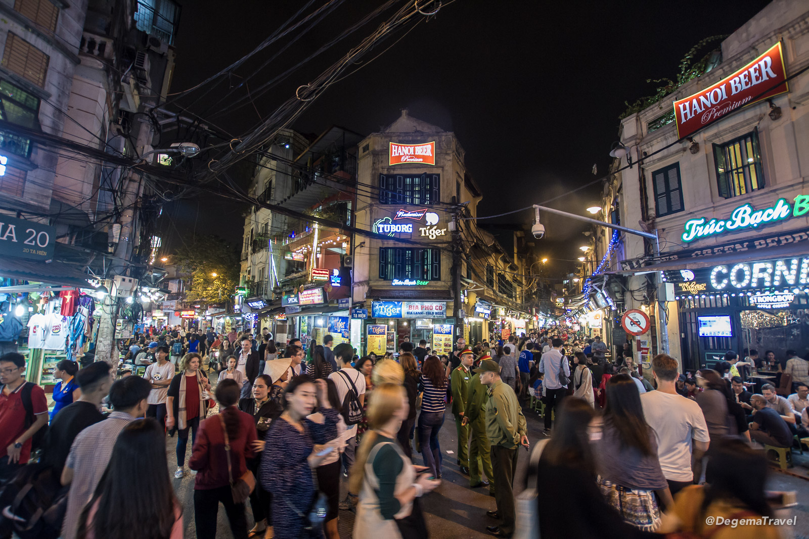 Bia Hoi Junction in the Old Quarter of Hanoi, Vietnam