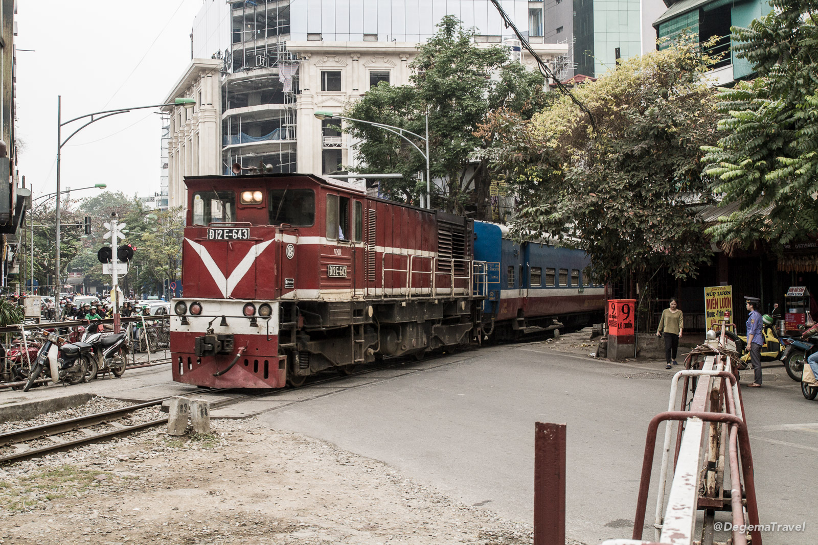 A train in Hanoi, Vietnam