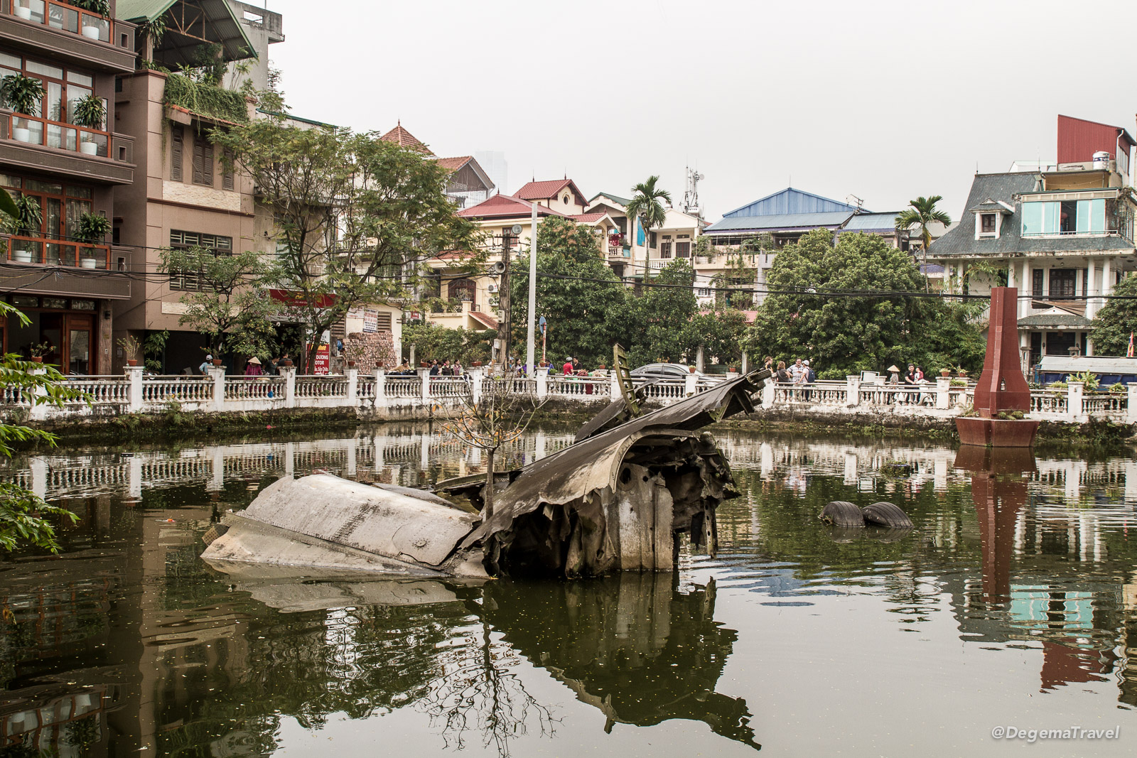 War wreckage in Hanoi, Vietnam