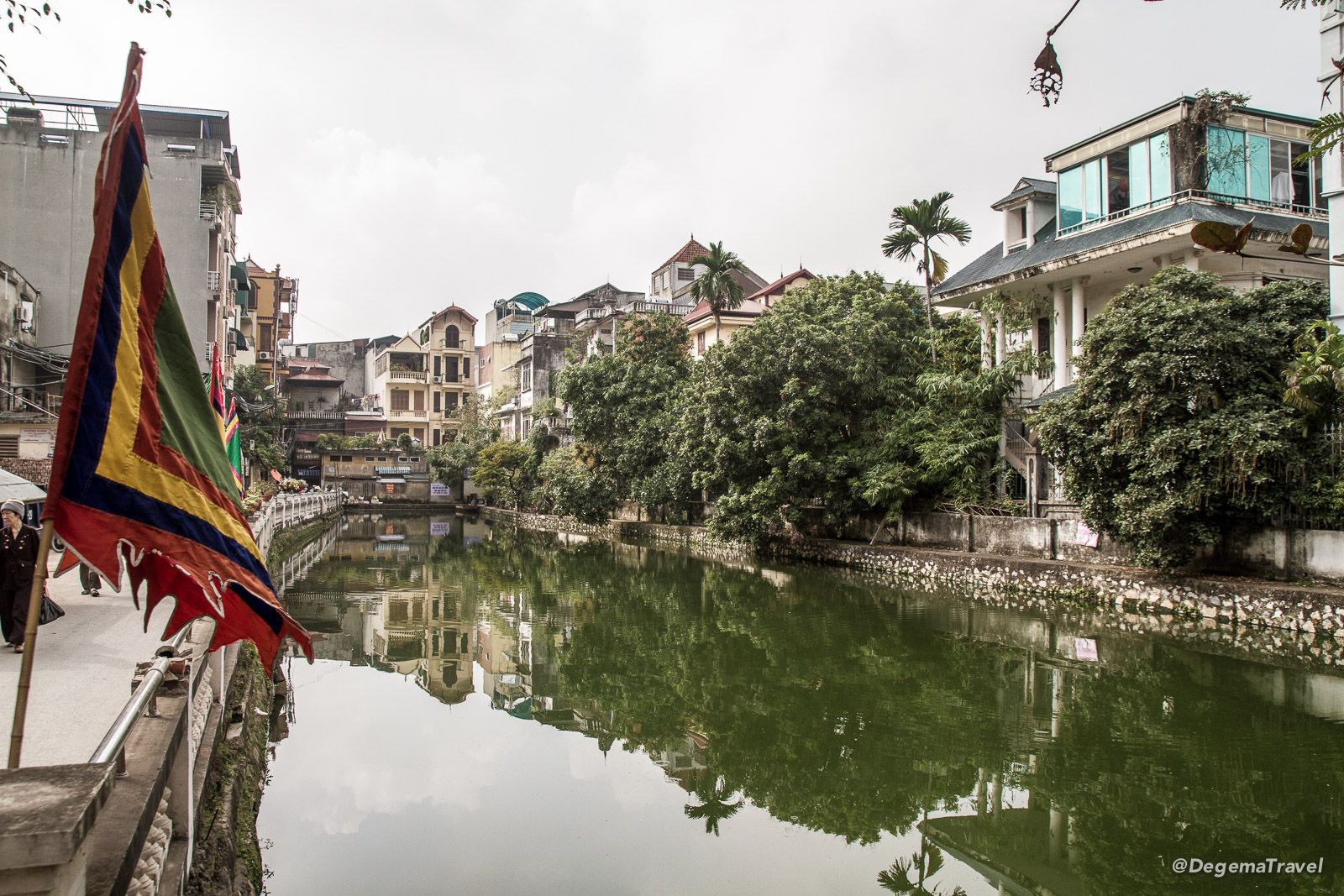 Lake in the middle of Hanoi, Vietnam