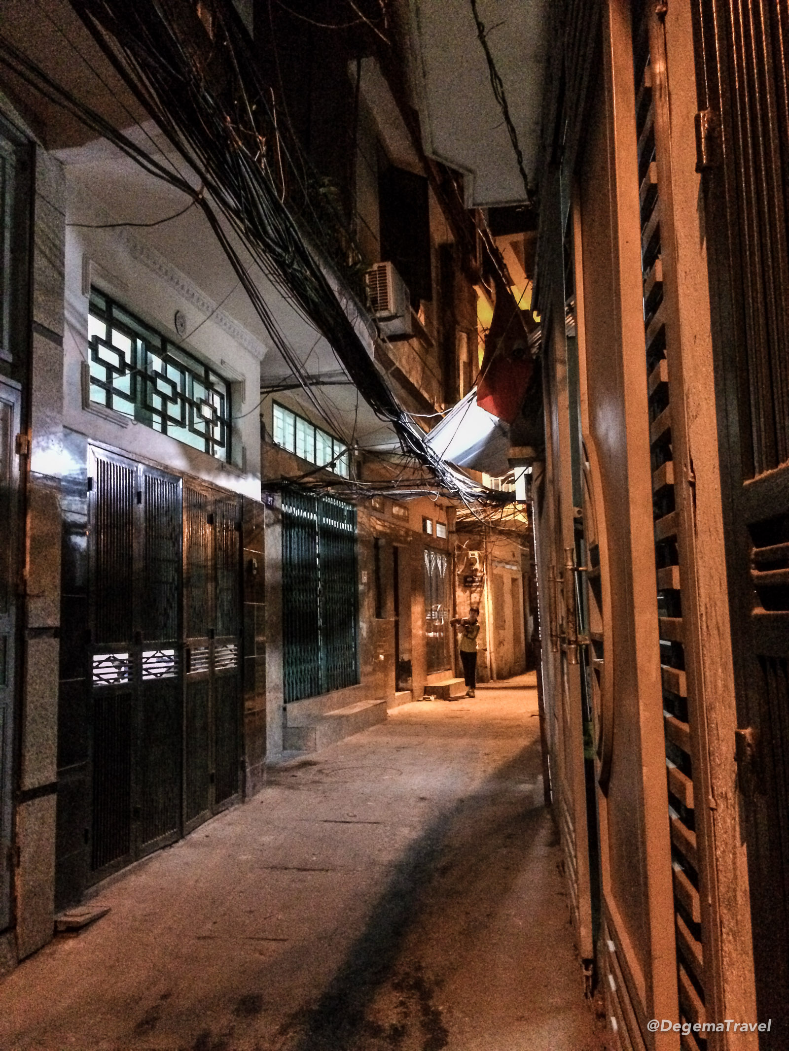 A narrow alley in Hanoi, Vietnam