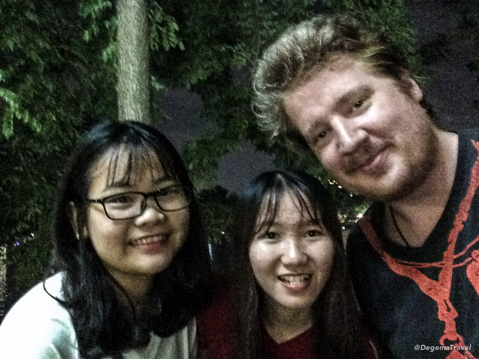 A couple of Vietnamese girls who asked to practise their English with me in Hanoi, Vietnam