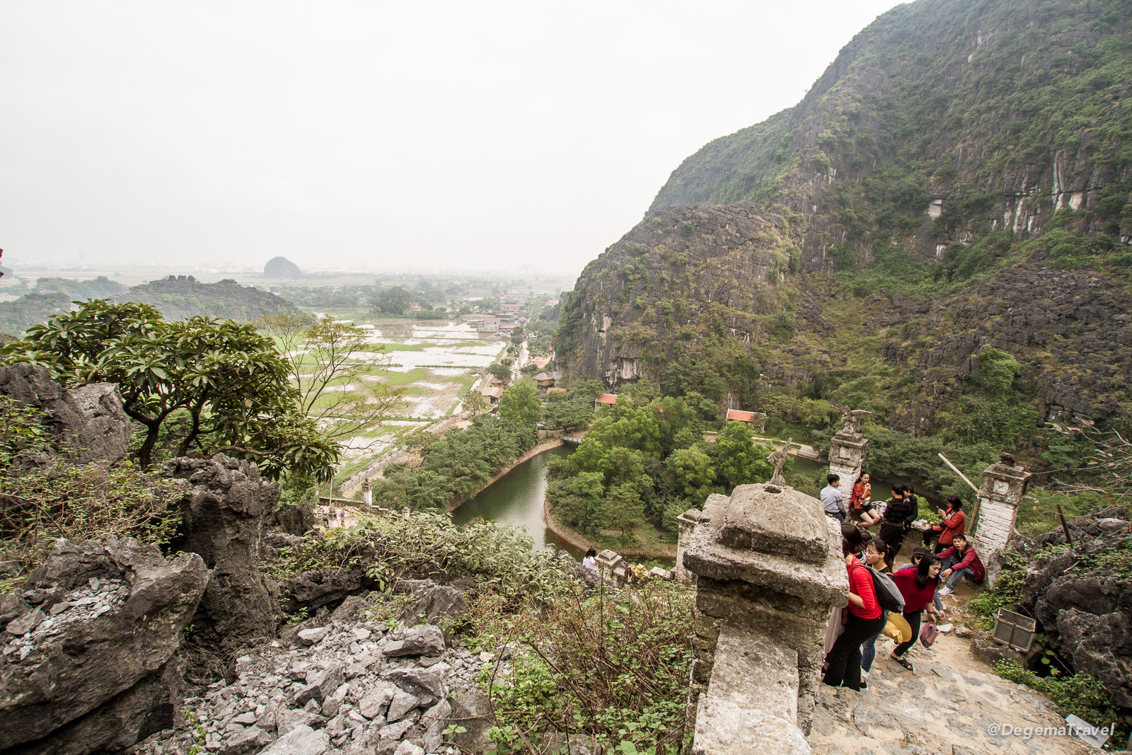 The stairs to Hang Mua Viewpoint in Tam Coc, Vietnam
