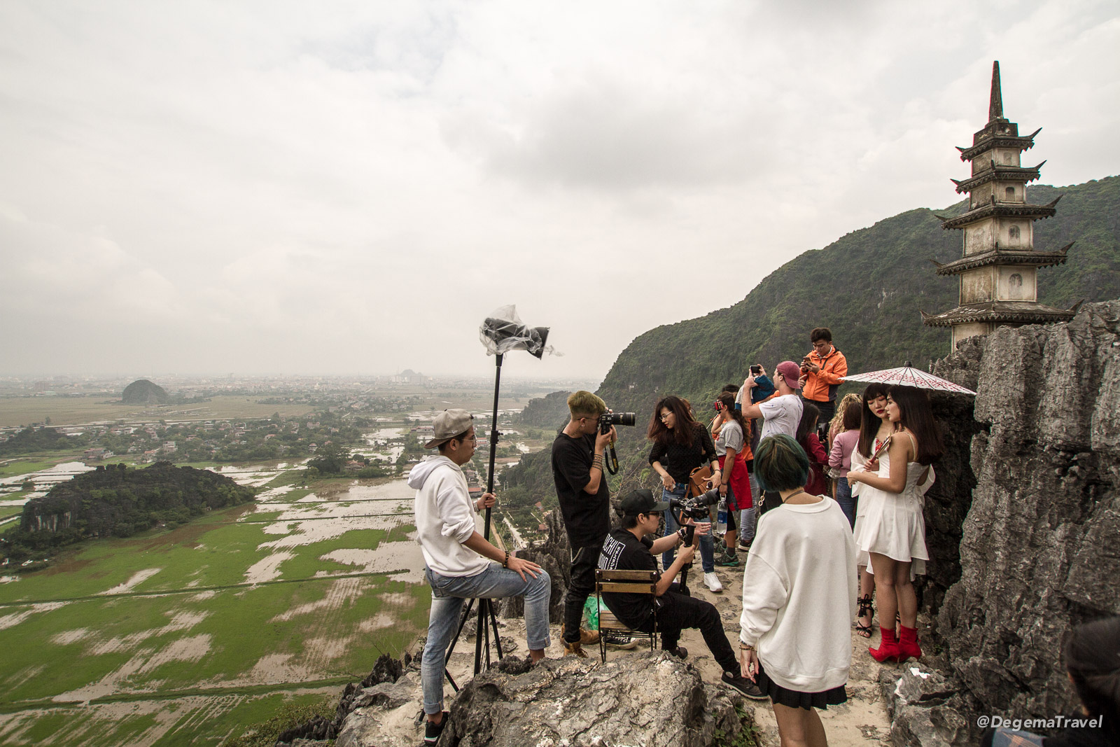 Photo shoot at Hang Mua Viewpoint in Tam Coc, Vietnam