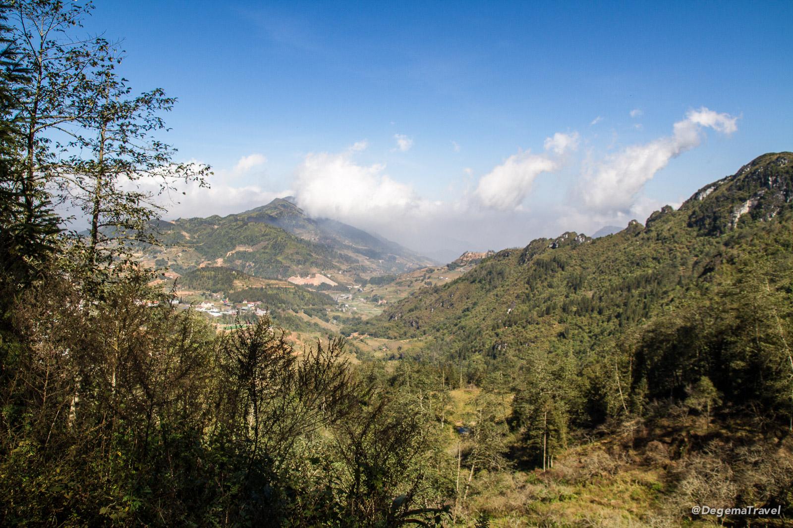 Rolling hills near Sapa, Vietnam