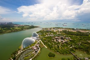 Singapore Bay from the top of Marina Bay Sands