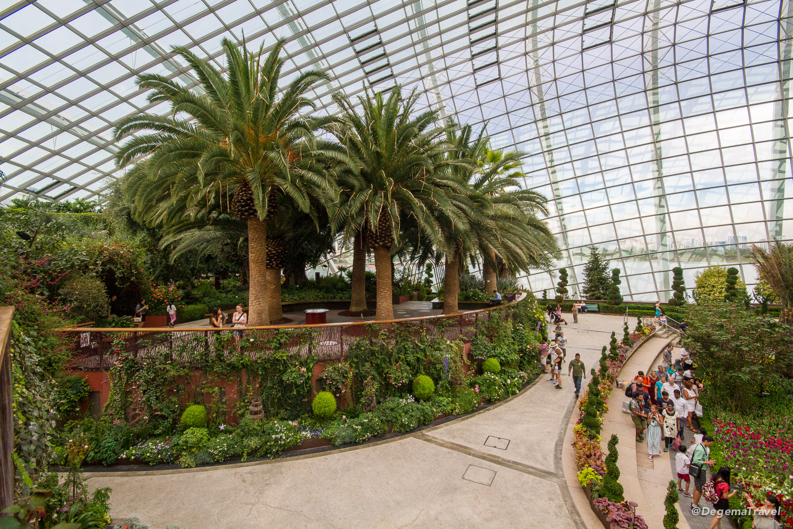 Inside Gardens by the Bay in Singapore