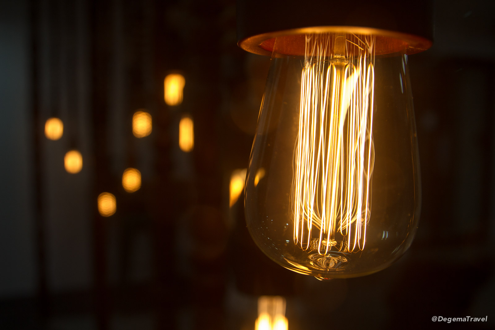 Old-fashioned light bulb