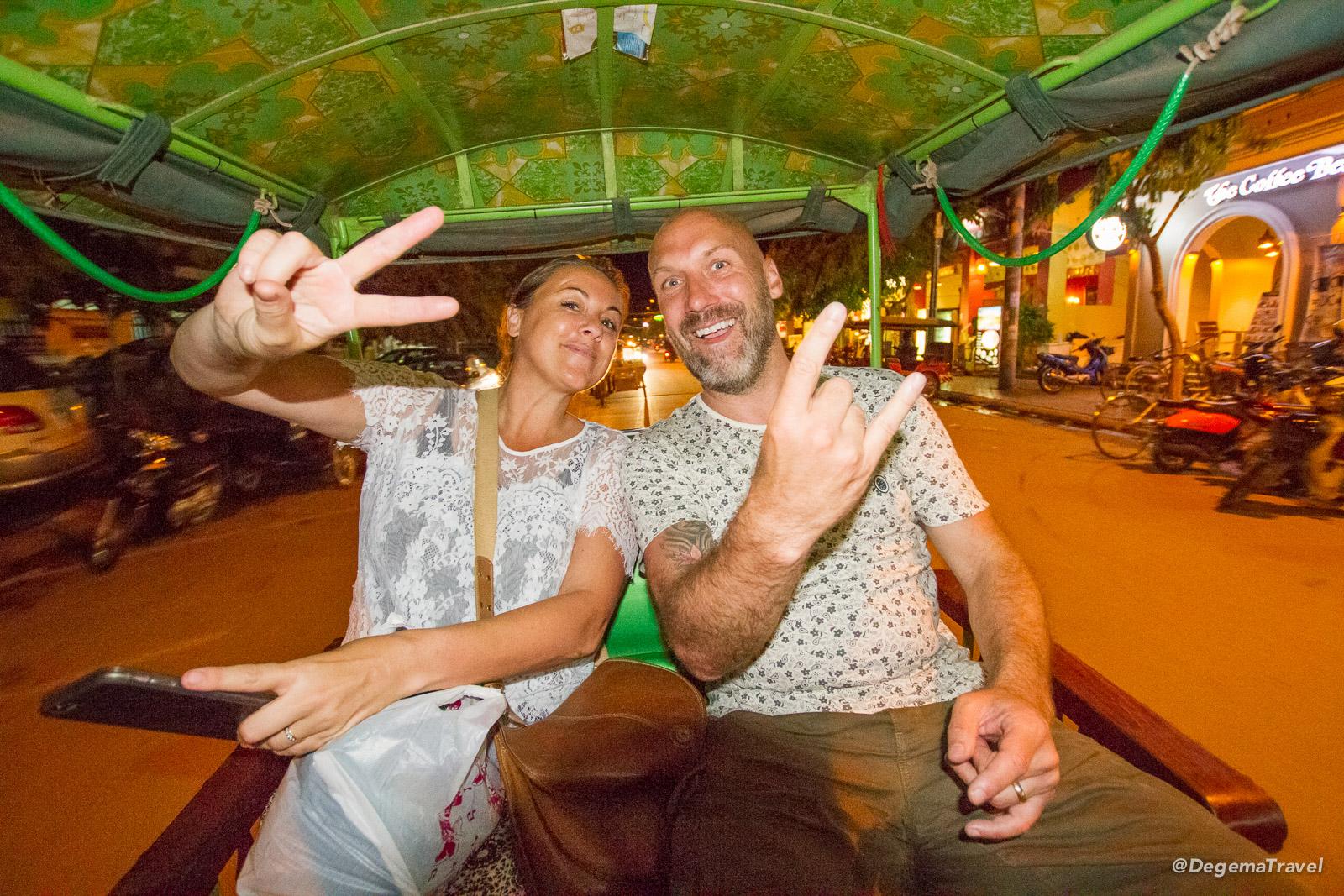 Julia and Bruce in Siem Reap, Cambodia