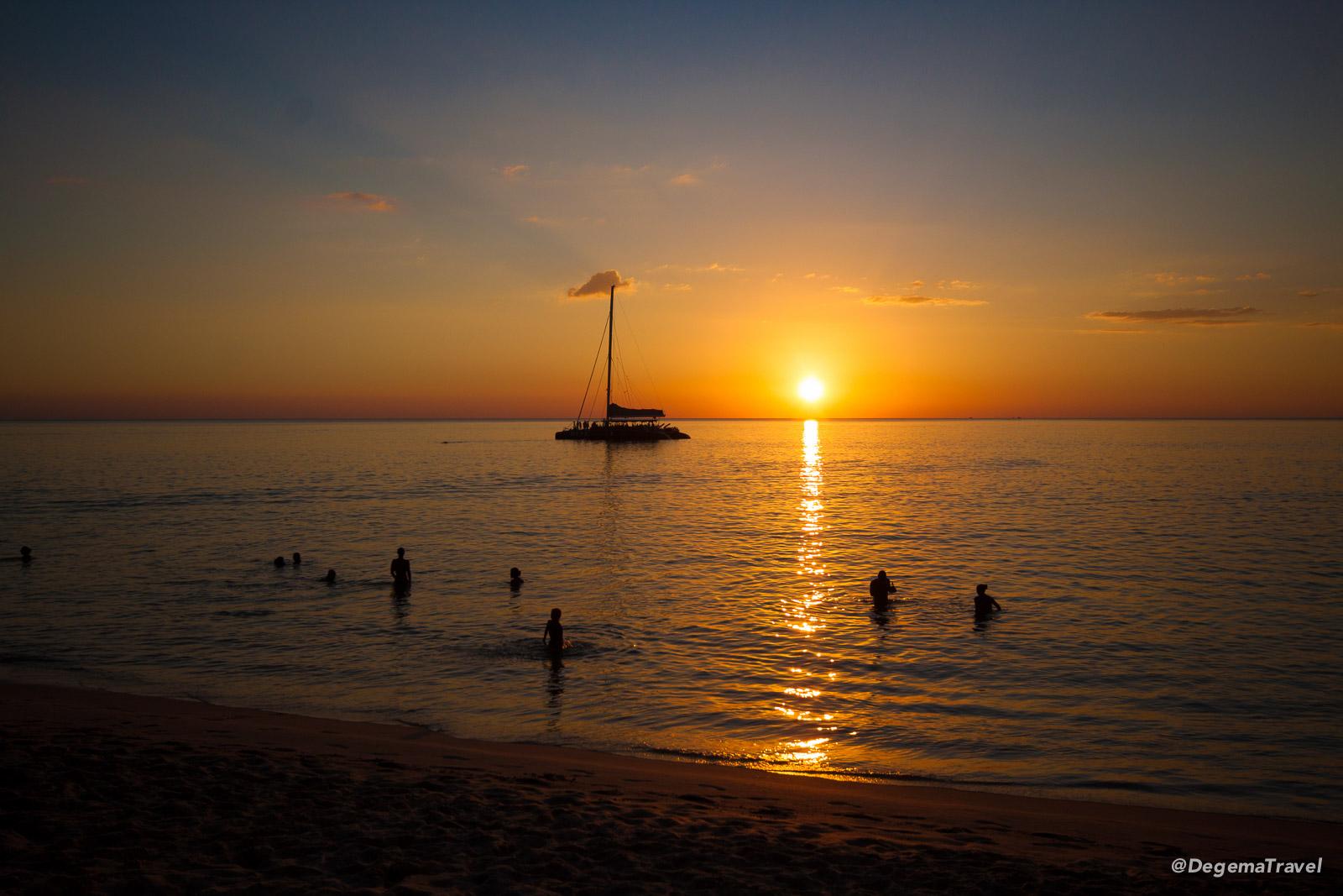 Sunset at Surin Beach in Phuket, Thailand
