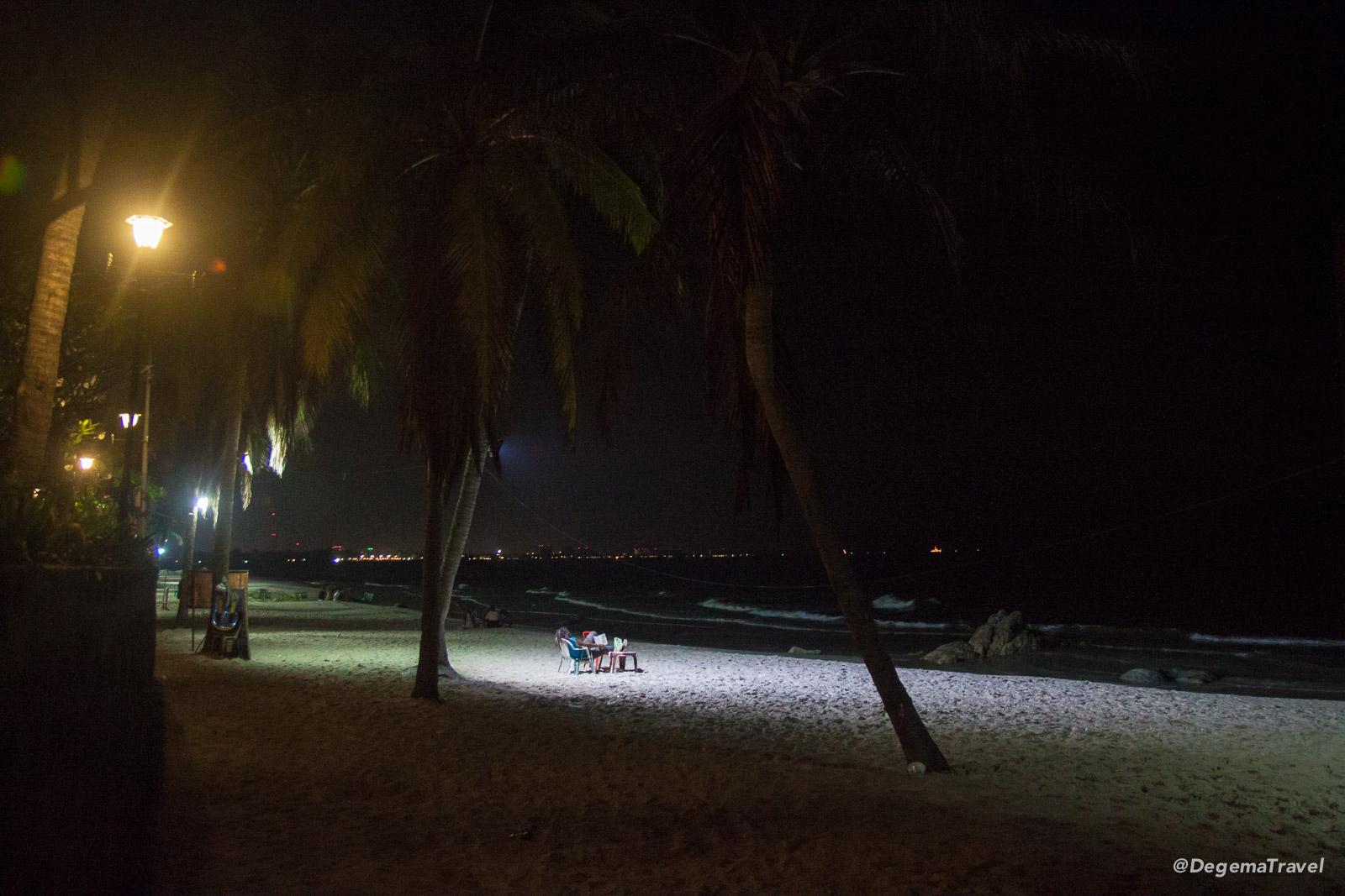 Pre-dawn Hua Hin Beach, Thailand