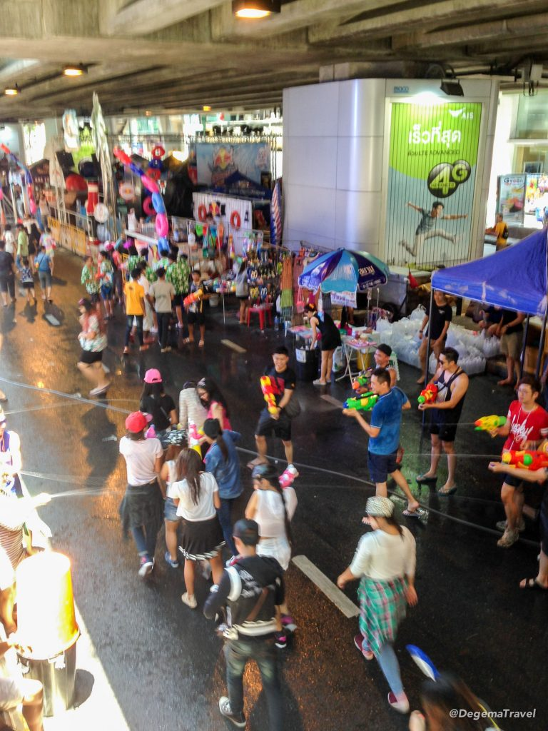 Playing Songkran in Bangkok, Thailand