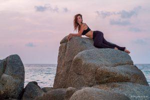Model Ayya Azanova at Karon Beach, Phuket, Thailand