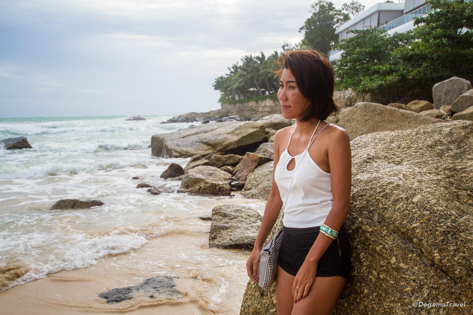 Jeab on Nai Harn Beach in Phuket, Thailand