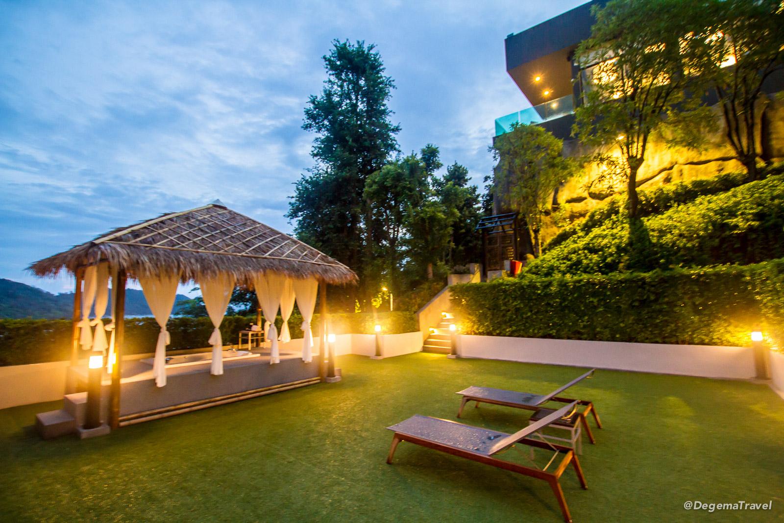 Outdoor Jacuzzi at Nook-Dee Boutique Resort in Phuket, Thailand
