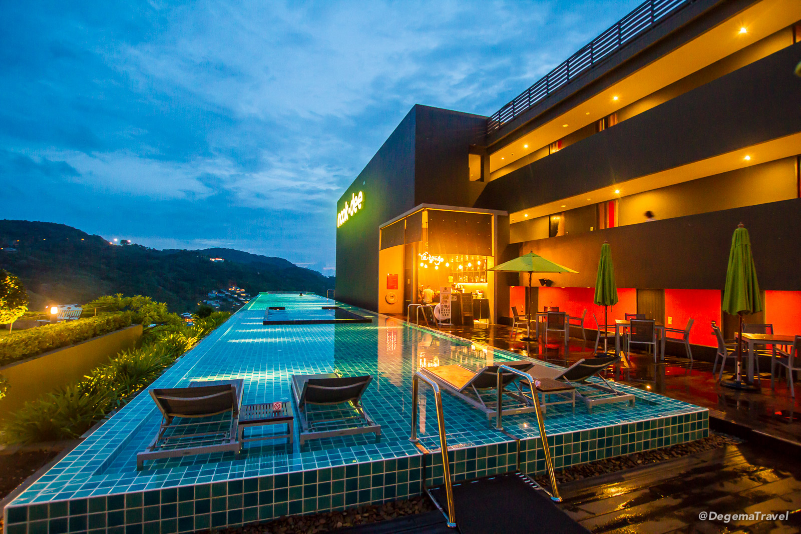 Swimming pool at Nook-Dee Boutique Resort in Phuket, Thailand