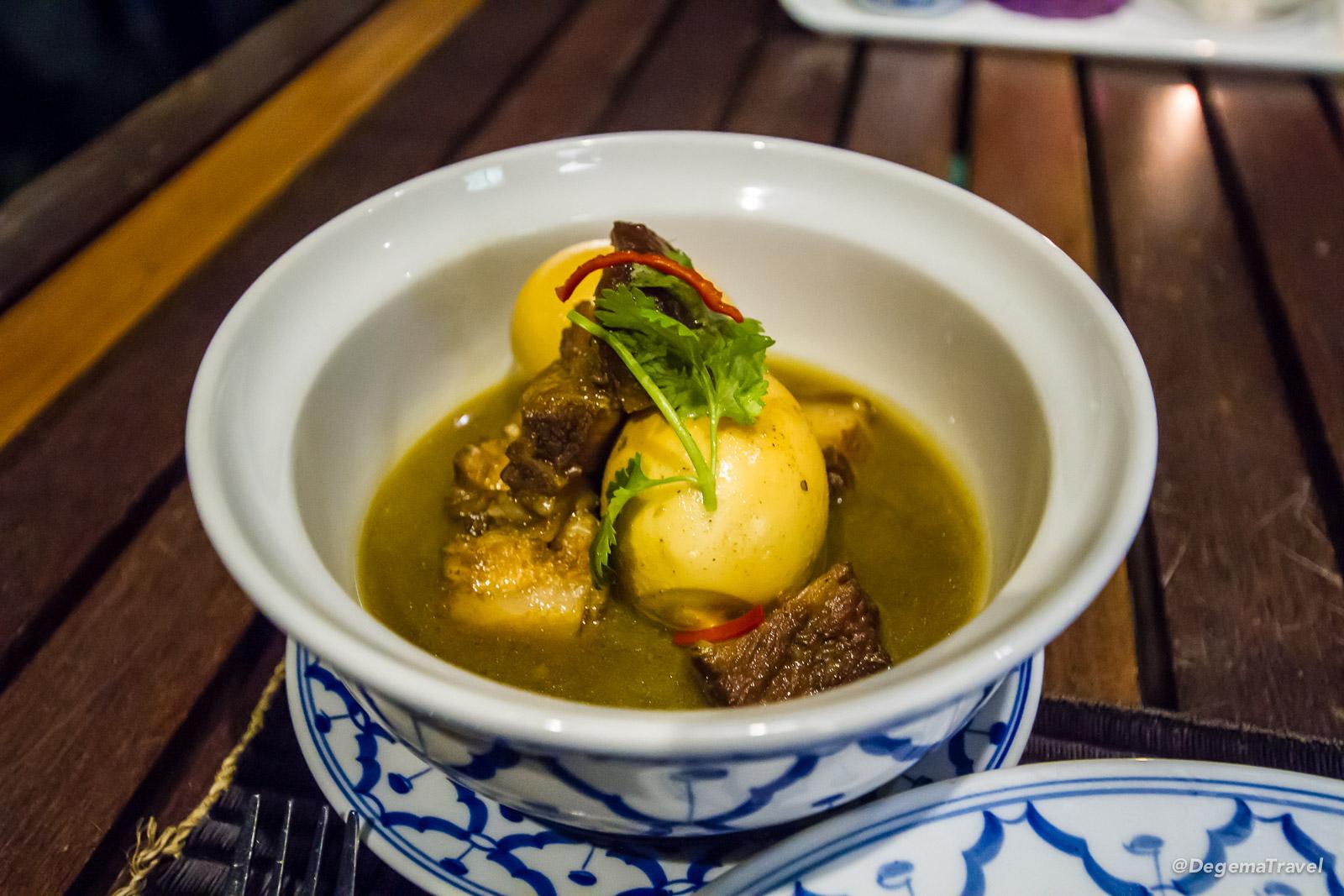Thai food at Roy Dee Restaurant at Nook-Dee Boutique Resort in Phuket, Thailand