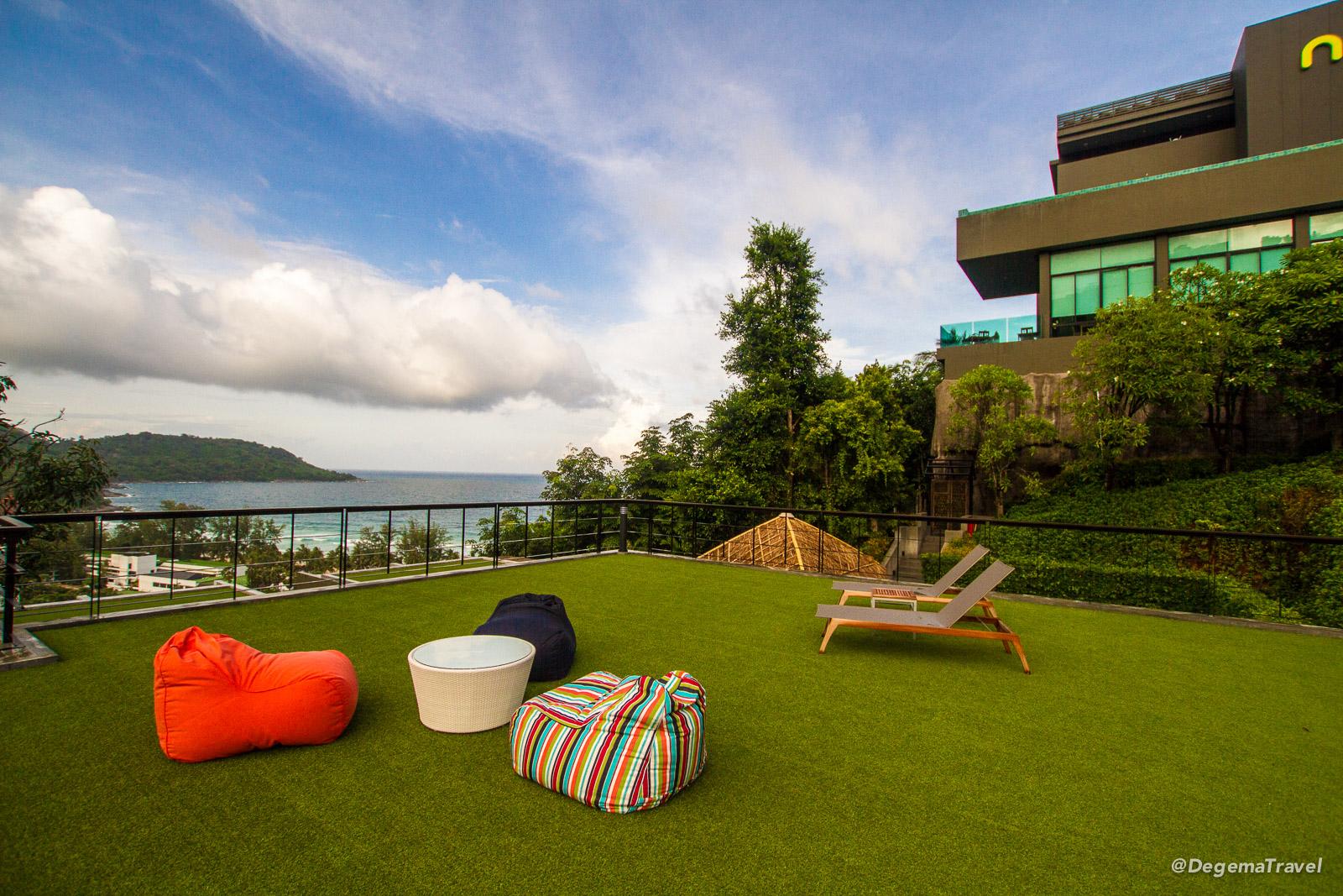 Roof of the Honeymoon Villa at Nook-Dee Boutique Resort in Phuket, Thailand
