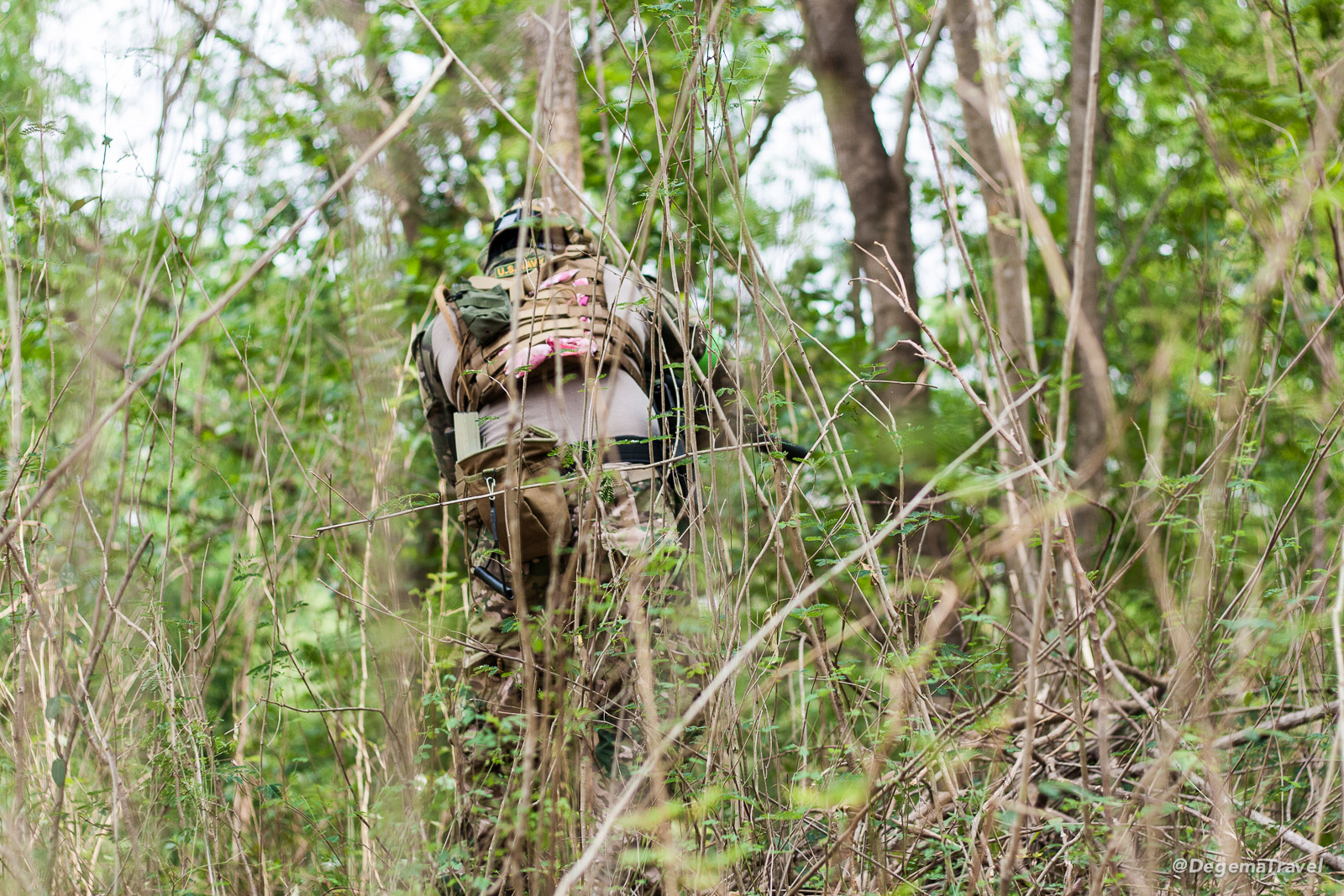Airsoft Dudzki at the milsim in Kanchanaburi, Thailand