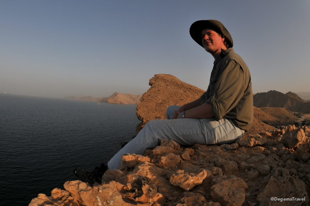 Sitting on a headland in Ras al Hamra in Muscat, Oman