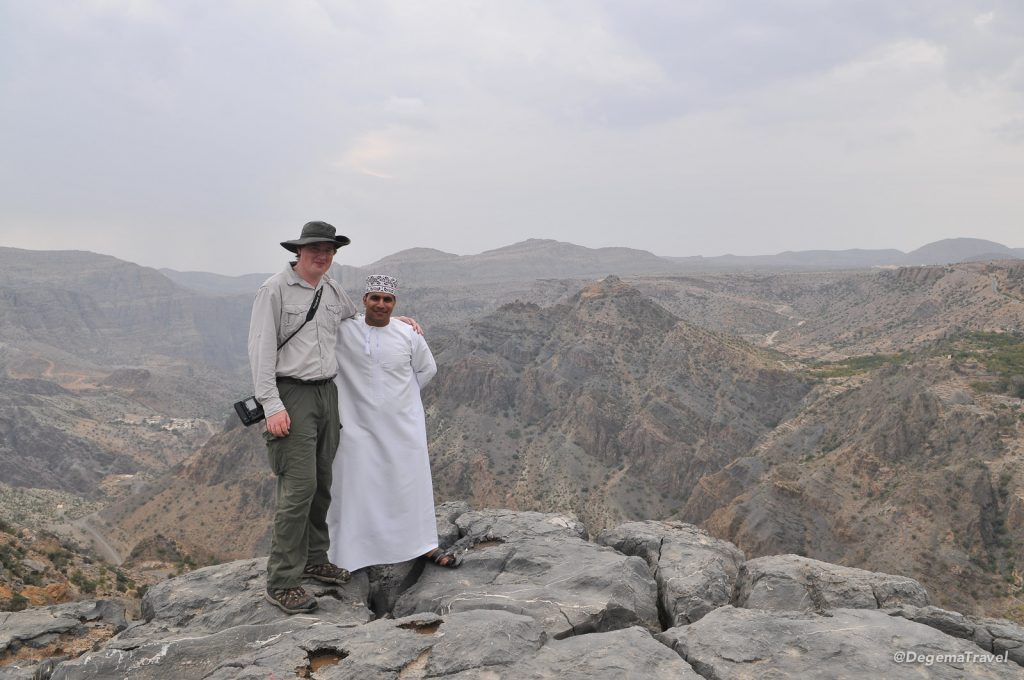Making friends near Jabal Akhdar, Oman