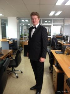 Wearing my tuxedo in Phuket, Thailand