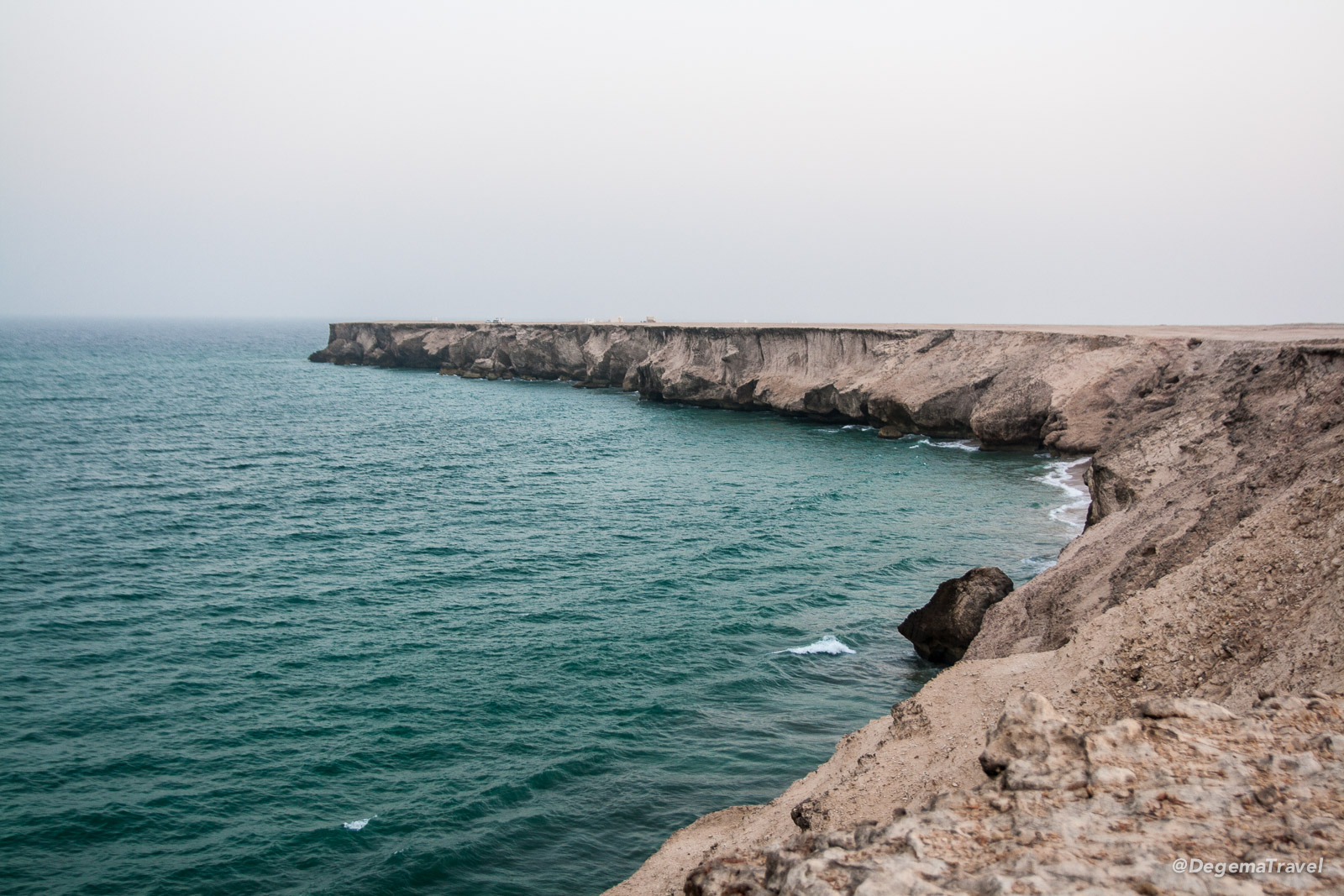 Coastal cliffs near Ad Daffah, Oman