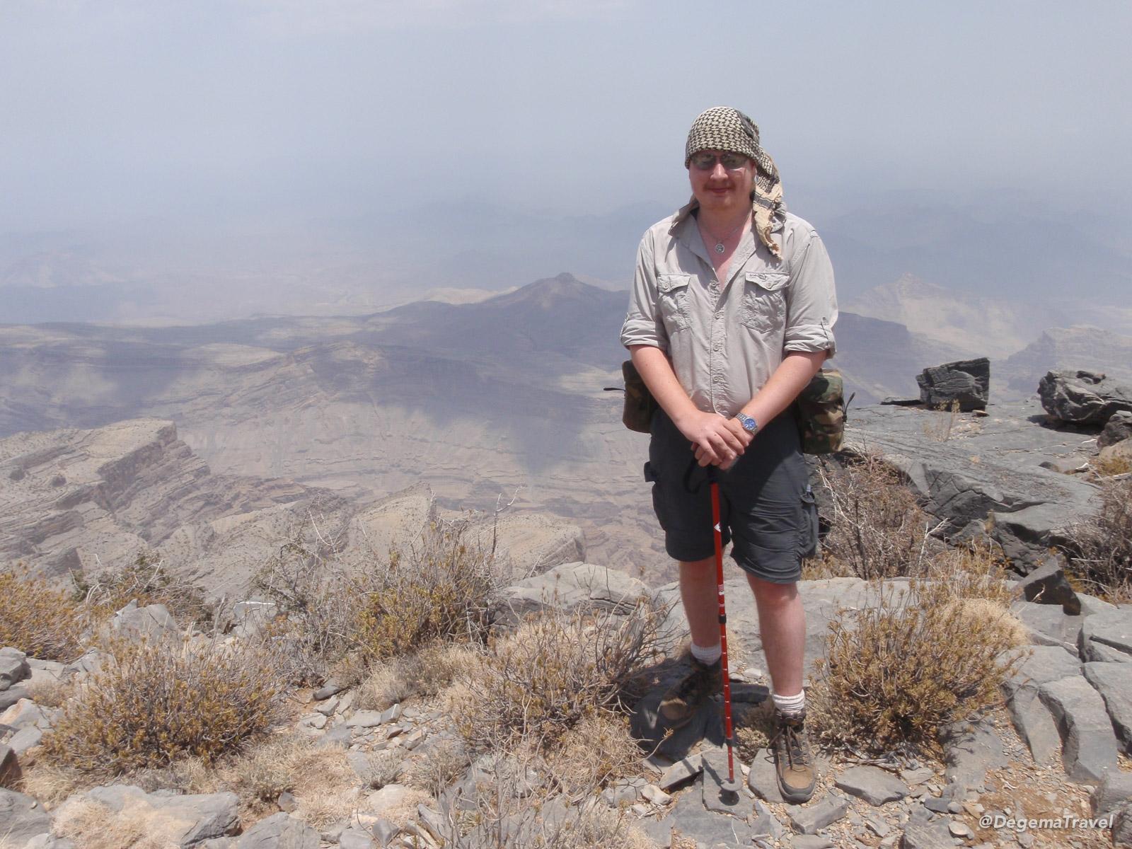 Me atop Jabal Sarayah, Oman