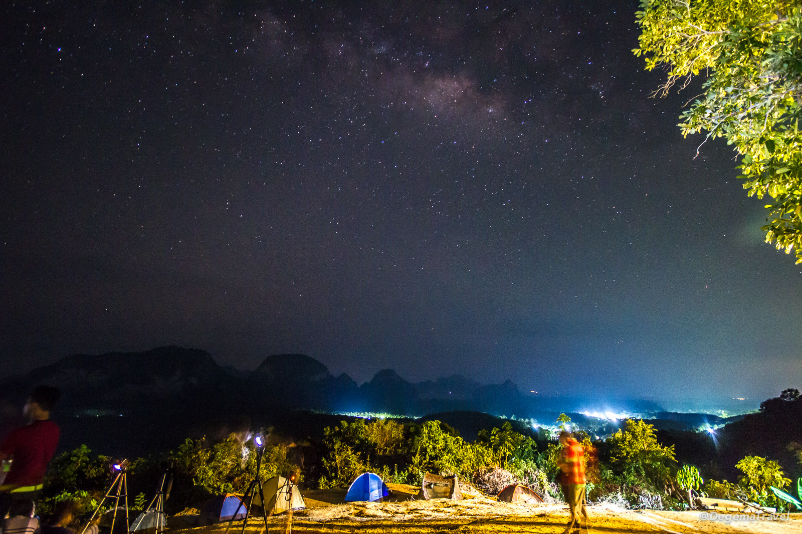 The Milky Way, as seen from Samet Nang She Viewpoint in Phang Nga, Thailand