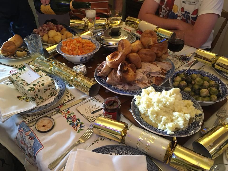 Christmas dinner in Selby, UK