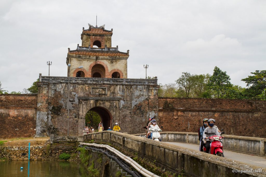 Gatehouse to the Imperial City in Hue, Vietnam